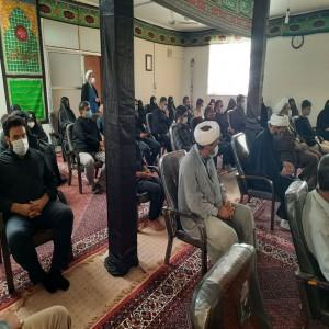 مراسم رونمایی از صندوقچه روضه های خانگی در دفتر امام جمعه بهار
