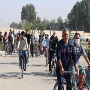 گزارش تصویری از برگزاری همایش دوچرخه سواری به مناسبت گرامیداشت هفته دفاع مقدس در بهار