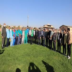گزارش تصویری از برگزاری ورزش صبحگاهی به مناسبت هفته نیروی انتظامی در استادیوم ورزشی بهار